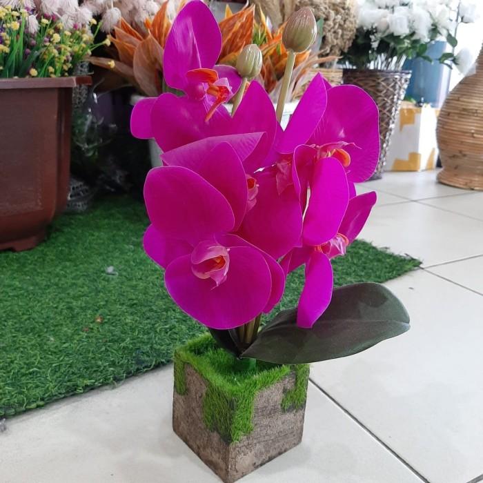 Jual Bunga Anggrek Artificial Anggrek Pot Agg1029 2 Kab Badung Princess Accessories Tokopedia
