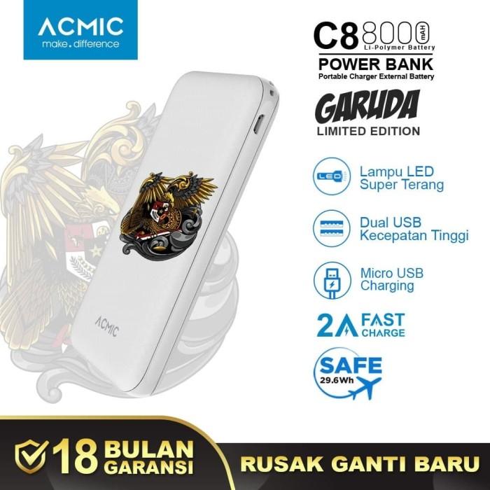 Foto Produk ACMIC GARUDA (LIMITED EDITION) C8 8000mAh PowerBank 2A Fast Charge dari ACMIC Official Store