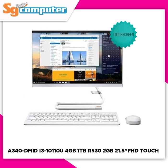 Foto Produk LENOVO A340-DMID I3-10110U 4GB 1TB AMD R530 2GB 21.5''FHD TOUCHSCREEN dari SG Computer Jogja