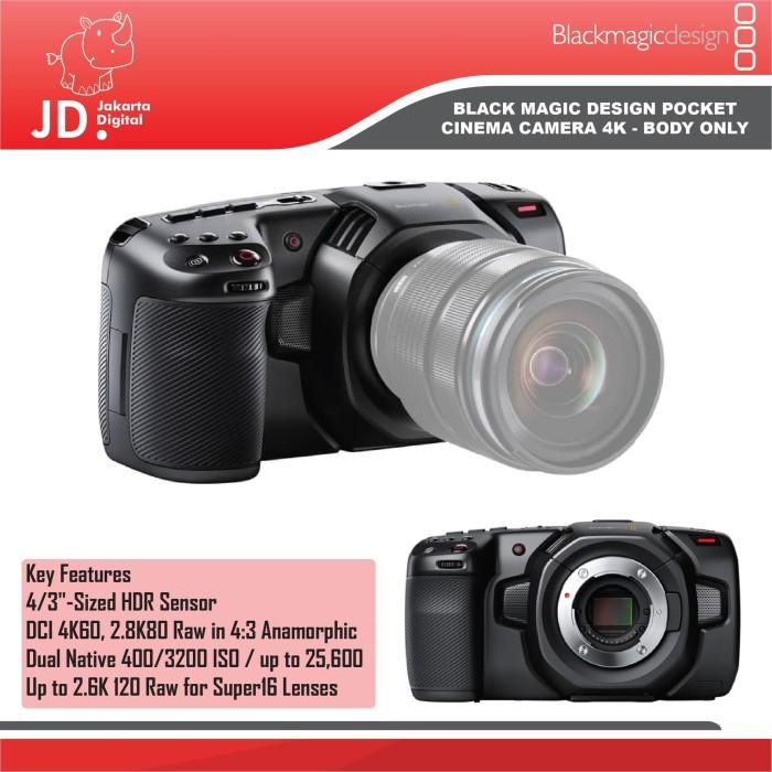 Jual Blackmagic Design Pocket Cinema Camera 4k Body Only Jakarta Pusat Jakarta Digital Tokopedia