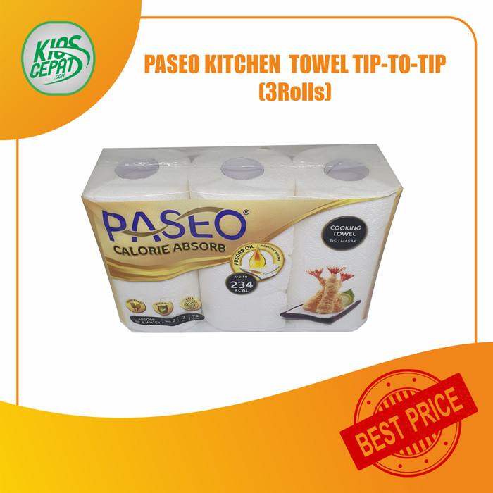 Foto Produk [GOJEK/GRAB] Tissue PASEO Kitchen Towel 3 in 1 (1Pack ISI 3Rolls) dari KiosCepat