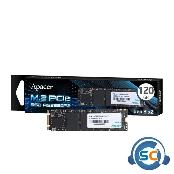 Foto Produk SSD Apacer 120 GB AS2280P2 M.2 Pcie Gen3 x2 Nvme 2280 120GB dari StarComp