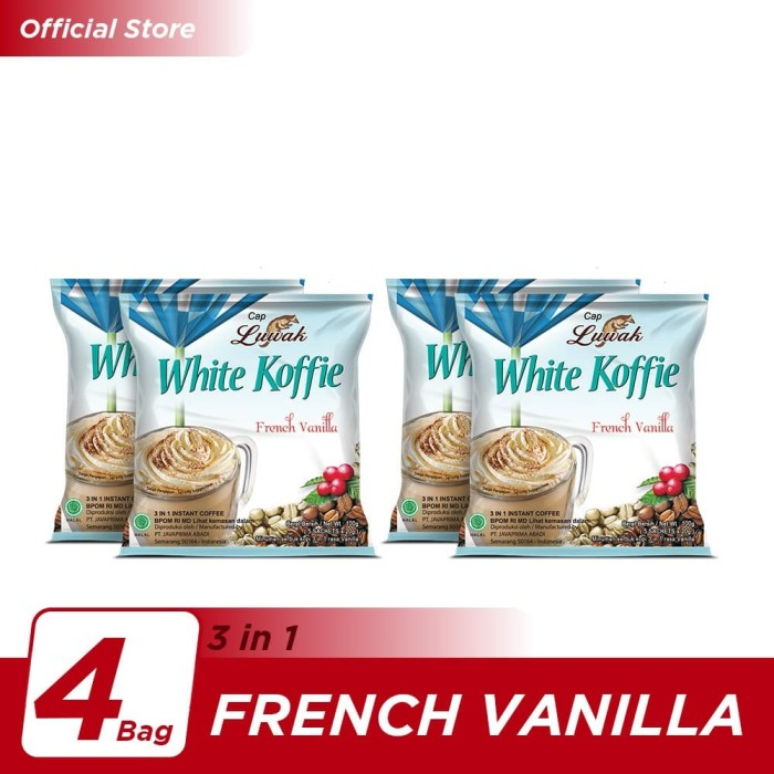 Foto Produk Kopi Luwak White Koffie French Vanilla Bag 5x20gr - 4 Pcs dari Kopi Luwak Official