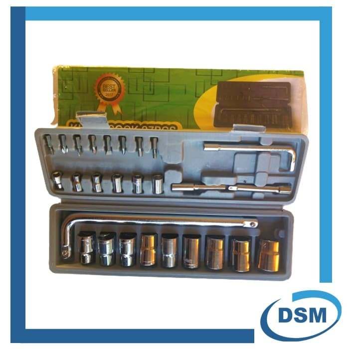 Foto Produk Tool Kit 27 in 1 Kunci Sock / Pas / SHOCK / Sok Obeng Alat Bengkel Set dari DSM Teknik