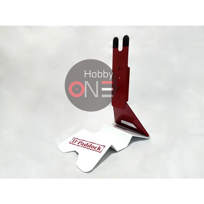 Foto Produk D Paddock BIKE STAND Portable Stand - Standar Sepeda Road Bike MTB - Merah Putih dari HobbyOne