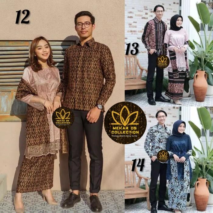 Foto Produk Kebaya Couple Batik Tile Brukat Premium dari Mekar OS
