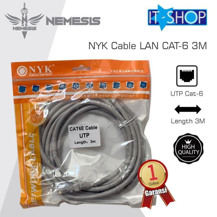 Foto Produk NYK Cable LAN CAT-6 3M dari IT-SHOP-ONLINE