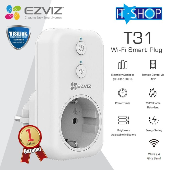 Foto Produk EZVIZ Smart Plug T31 - Pengaturan Pintar dari IT-SHOP-ONLINE
