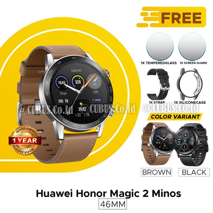 Foto Produk HUAWEI HONOR MAGIC WATCH 2 46MM AMOLED WATER RESISTANT GPS RESMI - Cokelat dari Cubus_Co_ID