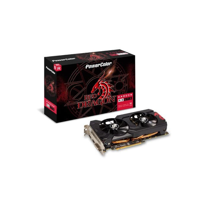 Foto Produk PowerColor Radeon RX 570 4GB DDR5 Red Dragon dari Enter Komputer Official