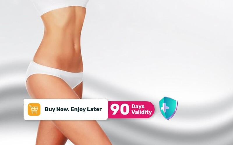 (PAKET 2x Sesi) Body Slimming with Cavitation / RF Per Area Perut / Paha / Lengan (40 Menit) - Available by Appointment