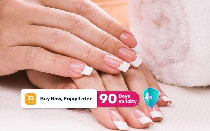 1x Manicure / Pedicure + Gel Chrome For 10 Nails