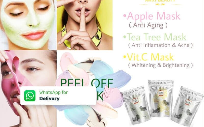 Apple Mask for Anti Aging / Tea Tree  Mask for Anti Imflamation & Acne) / Vit C Mask for Whitening (30 Gram) - Delivery