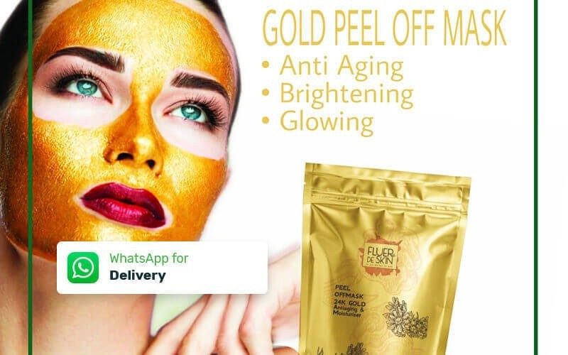 Gold Peel off Mask for Anti Aging + Brightening + Glowing (30 Gram) - Delivery