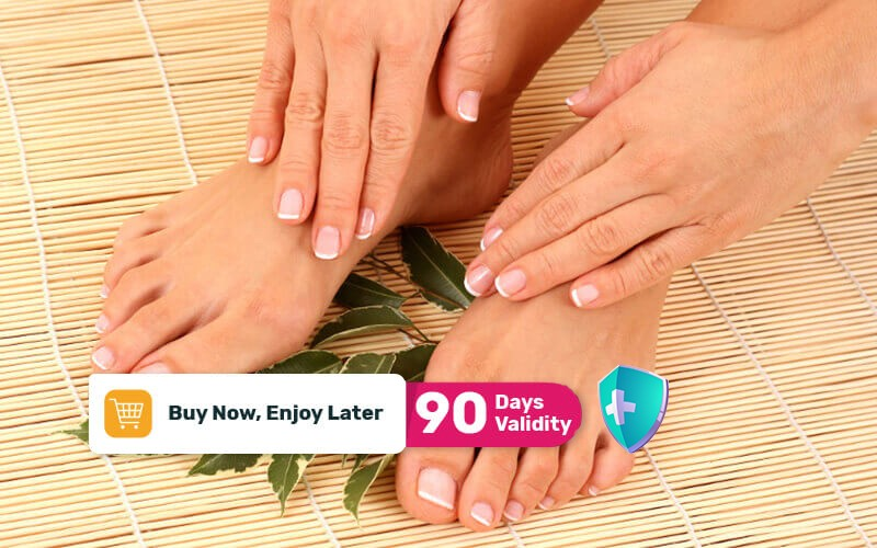 [Available by Appointment] 1x Manicure + Pedicure + Hand & Foot Gel + Swarovski 20 Beads