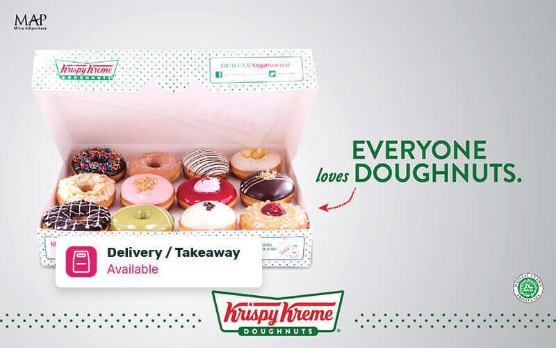 12 Pcs Doughnuts (9 Assorted Free dan 3 Original Glazed/Sugar Icing/Cinnamon Doughnut) - Delivery & Take Away