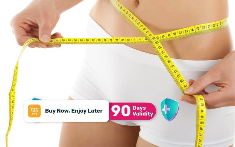 1x Body Slimming + RF Perut + RF Lengan + RF Paha + RF Back Fat + Slimming Sauna + Slimming Wrap + EMS