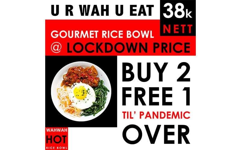 [#FaveBirthday] Pay 2 Get 3: Delicious Jumbo Healty Rice Bowls Vegan / Vegetarian / Zero-Fat Chicken (Gluten & MSG Free) - Dine in