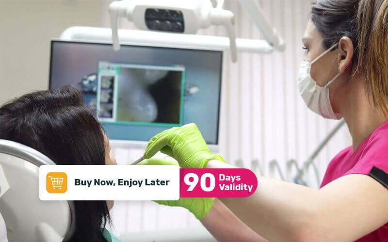 1x Tambal Laser Sewarna + Intra Oral Camera + General Check Up