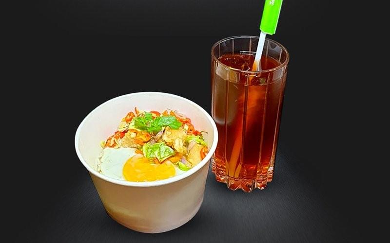 Sambal Matah Rice Bowl + Iced Tea - Dine in
