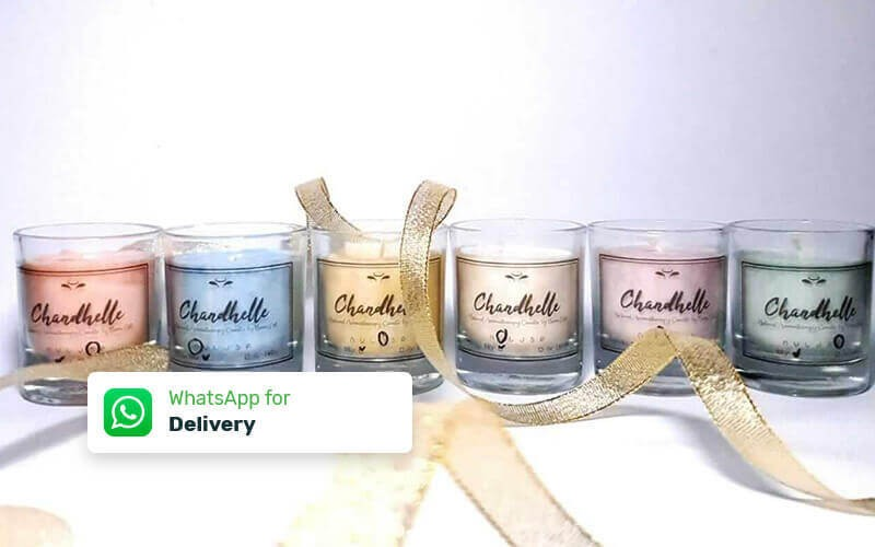 Small Chandhelle Aromatherapy (55 Gram Burns Times Min. 15 Hours) - Delivery