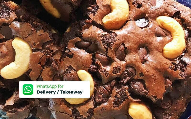 Set for 3: Chocomelt Cashew Brownies - Delivery & Take Away