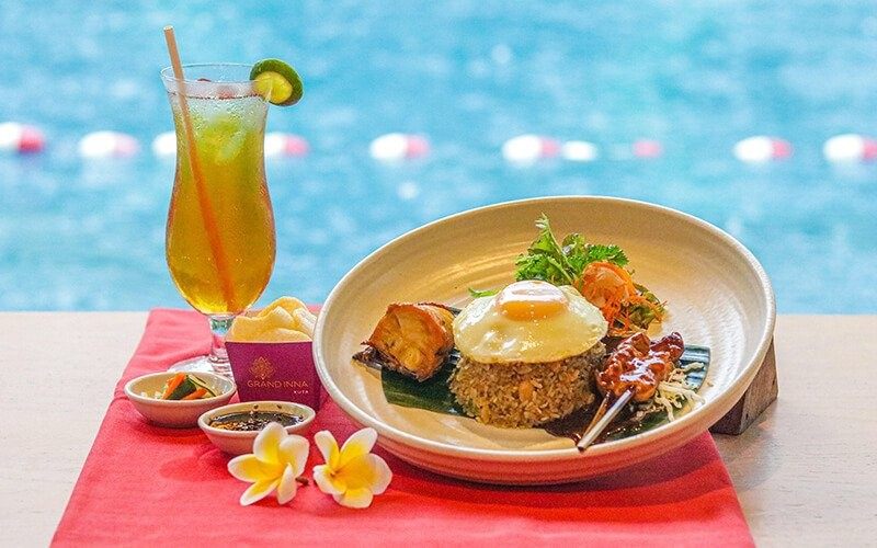 Pool Package + Nasi Goreng Grand Inna + Drink + Towel