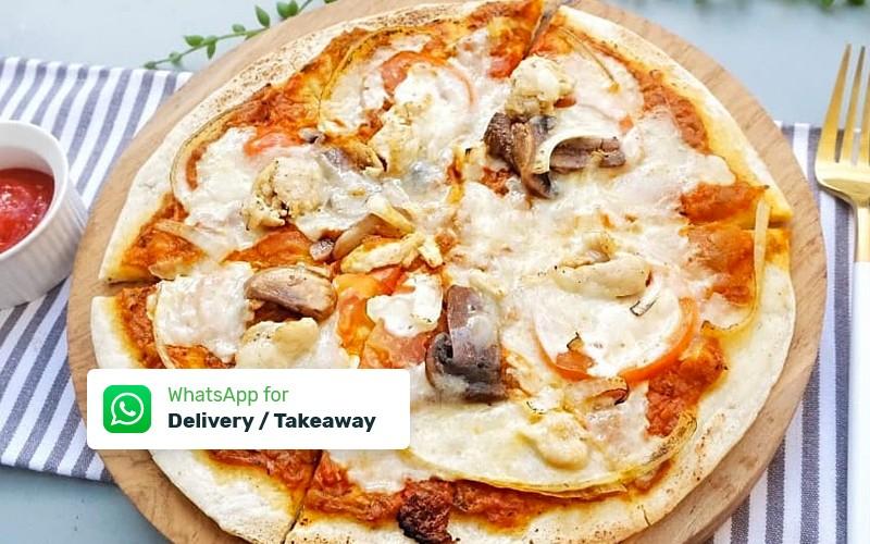 Medium Margherita Pizza / Aioli Pasta + Ice Tea - Delivery & Take Away