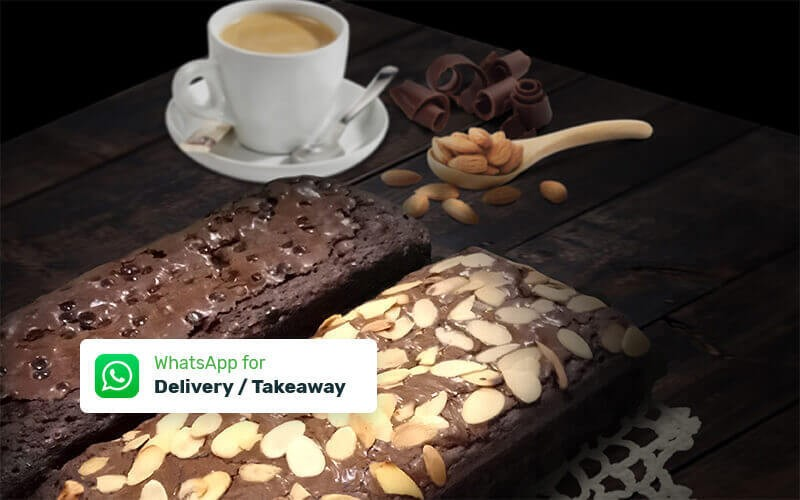 Brownies Nonik Cake + 1 Topping Almond / Cheese / Chocochip - Delivery & Take Away