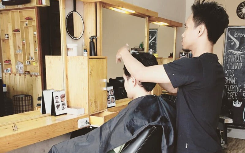 [TKI 2] Hair Cut + Hair Wash + Massage + Shaving + Styling