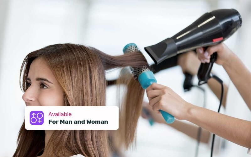 1x Smoothing Ion + Cutting Hair + Vitamin + Blow Iron