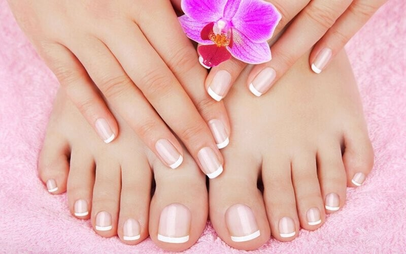 1x Basic Manicure / Pedicure + Ombre / Glitter / French / Chrome / Nail Deco - Available for Home Service