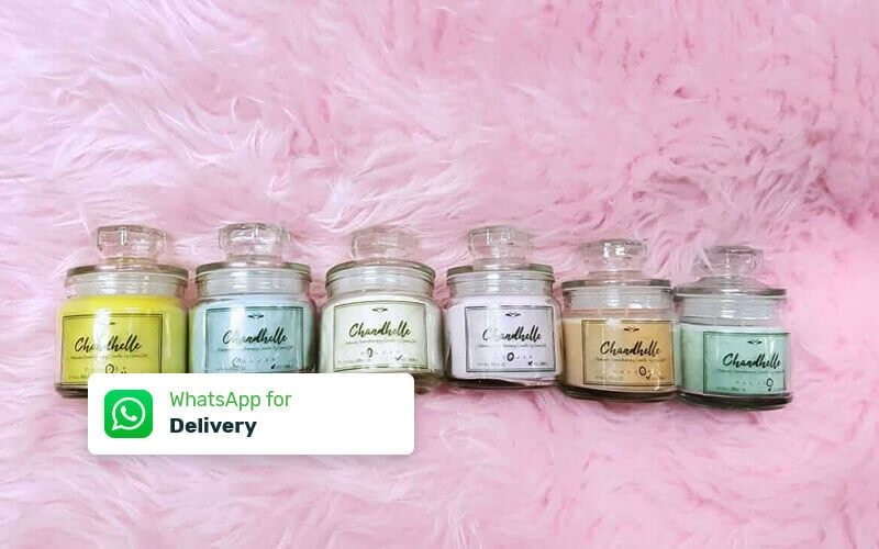 Jar Chandhelle Aromatherapy (140 Gram Burns Times Min. 25 Hours) - Delivery