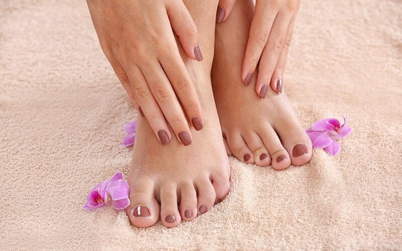 Manicure + Pedicure + Nail Polish + Light Massage & Scrub