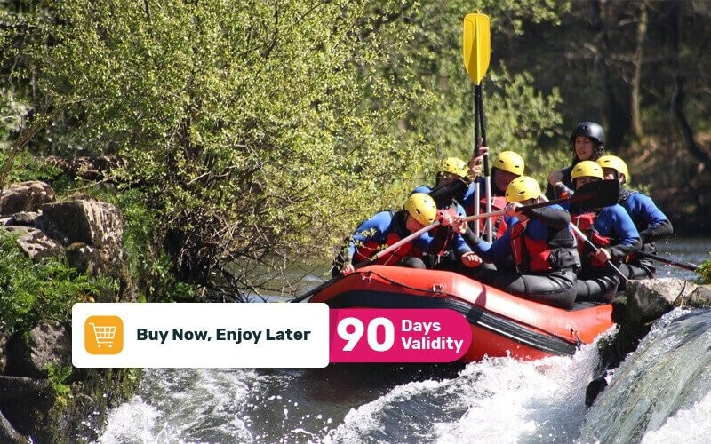 1 Boat Rafting Elo River 12 Km + Guide + Snack + Lunch / Dinner (Max 6 Person)