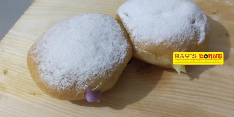 Hays Donut - Voucher 1 Lusin Donat Medium Size isi Vla Durian/ Taro