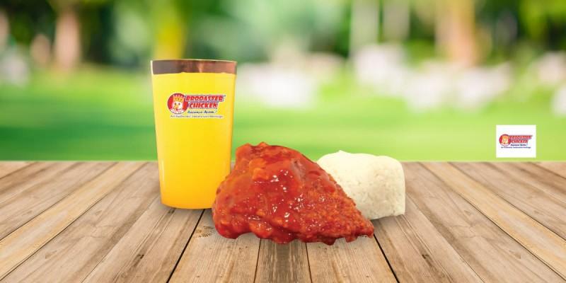 Brooaster Chicken Paket 1 Chicken Asean 1 Nasi 1 Orange Juice Med