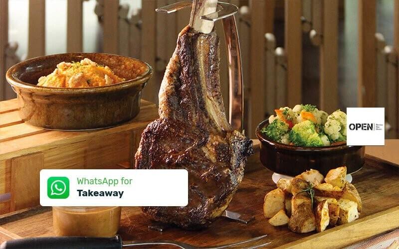 Beef Tomahawk by OPEN} Restaurant DoubleTree by Hilton Jakarta - Diponegoro - Take Away