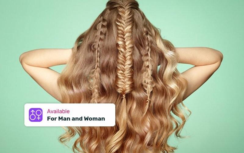 Korean Hair Curly + Wash + Vitamin for Long Hair