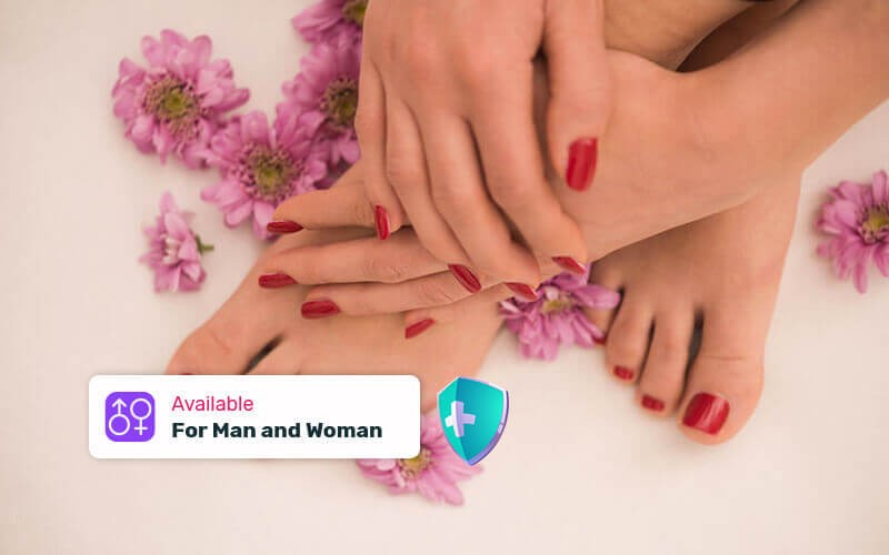 Dry Japanese Manicure & Pedicure + Nail Art Gel For Hand & Foot
