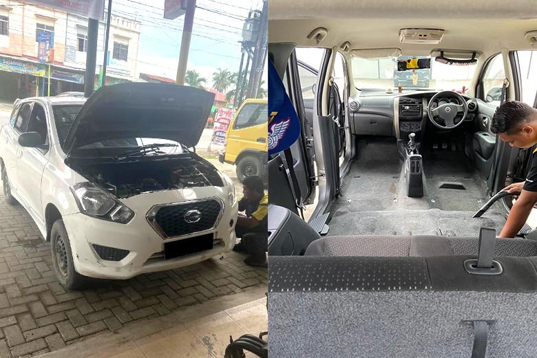 [Jl Bhayangkara No492 A] PROMO MARET Spooring  Balancing  Polish  Doorsmeer  Ganti Ban dari Pangeran Auto Service - Balancing  R12 - R18