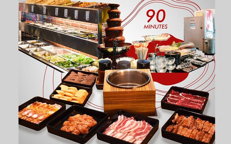 All You Can Eat Yakiniku + Shabu Shabu(US Beef + Pork + Chicken + Seafood ) + Buffet