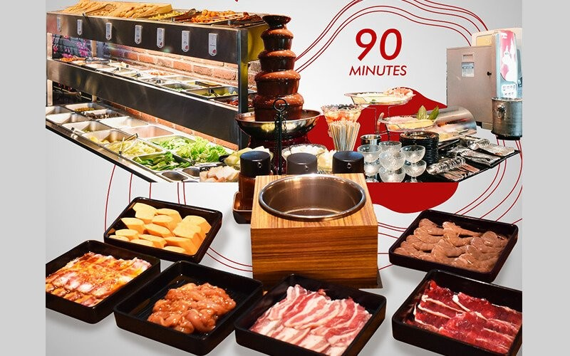 All You Can Eat Yakiniku & Shabu Shabu ( Shirloin & Chicken) + Buffet