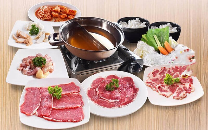 All You Can Eat 2 in 1 (Yakiniku + Steam Boat) For 1 Person