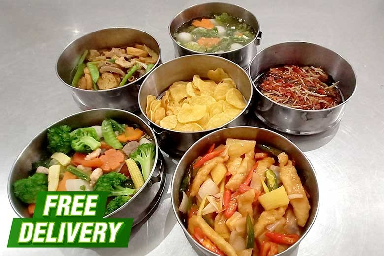 [Jalan Aksara Pukat III Medan] FREE DELIVERY Catering Yummy - Rantang  Nasi Kotak Bulanan NON-HALAL  - Rantang 4 Tingkat Kering 1 Bulan