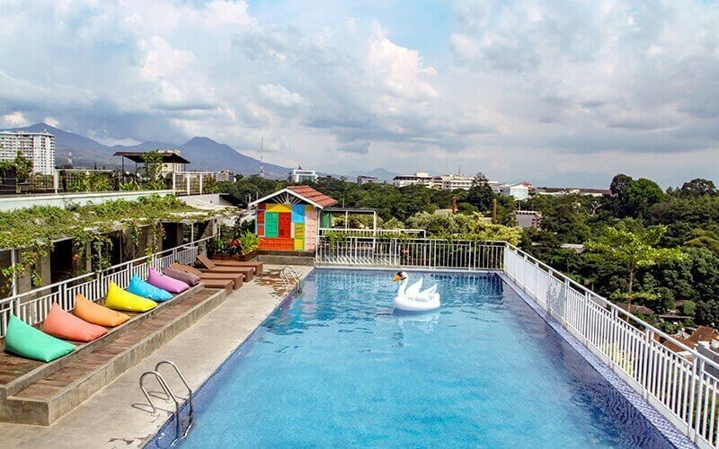 Swimming Pool Access + Visit Fun House For Kids