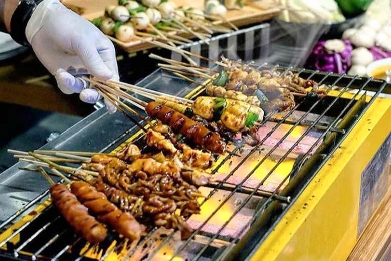 [Jl Darmokali No 60] Flambay BBQ Buffet at Rootop Darmo - Batiqa Hotel Darmo - BBQ Grill House per-Pax