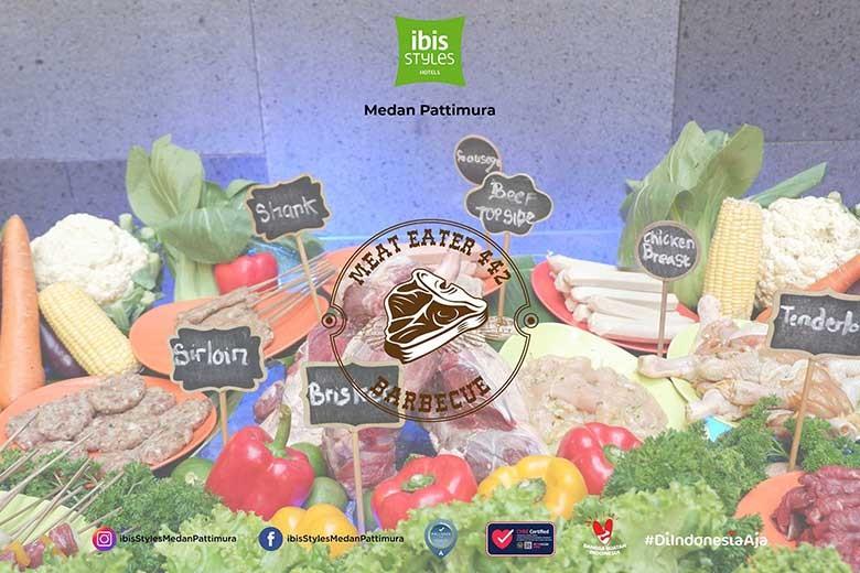 [Jl Pattimura No 442 Medan] Buffet Friday or Saturday Night Meat Eater 442 by ibis Styles Medan - Meat Eater 442 Buffet Friday or Saturday Night  1 Pax