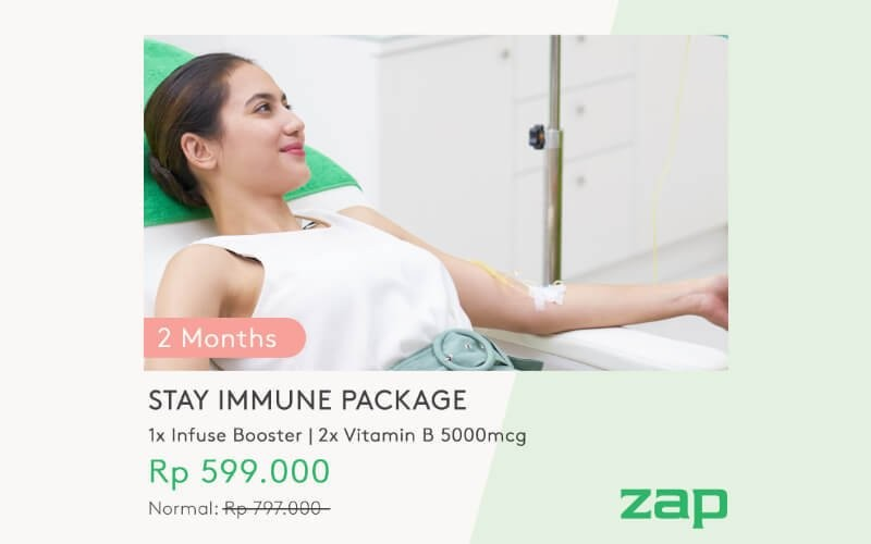 2 Months Package Stay Immune (1x Infuse Booster + 2x Vitamin B 5000mcg)