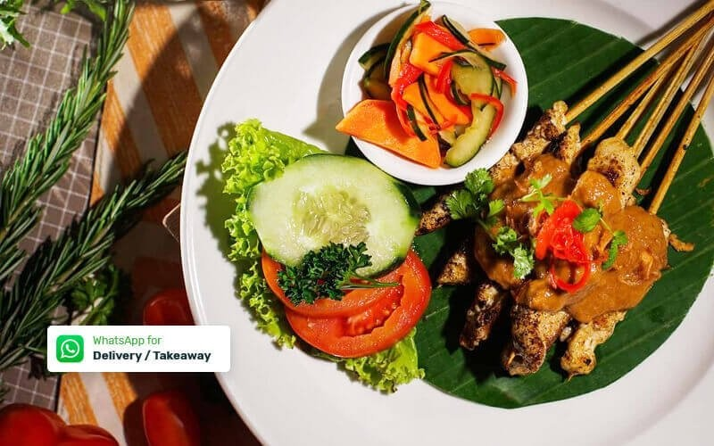 Sate Plecing + Ice Tea (Delivery / Takeaway)